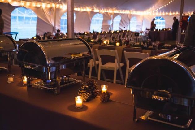 Buffet Dinner Service at Wedding