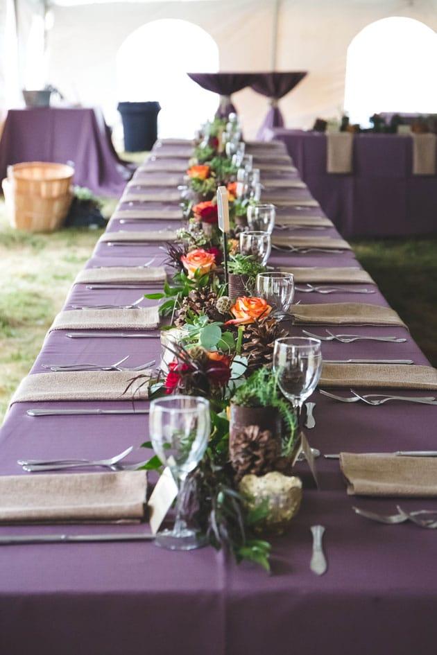 Wedding Table Setting at Serosun Farms