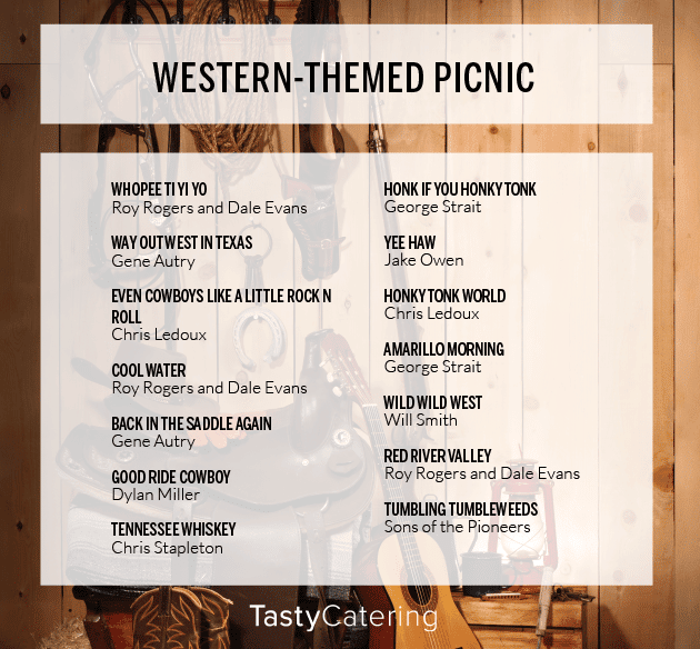 Western Themed Picnic Playlist