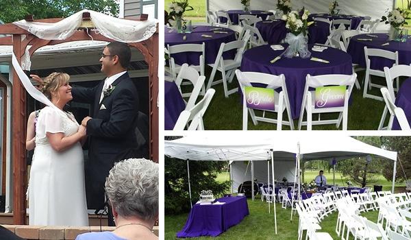 backyard fairyland wedding