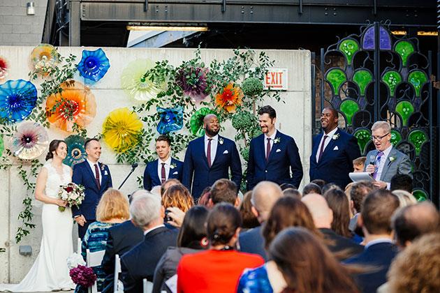 ceremony bride and groomsmen