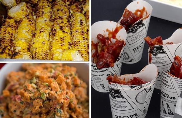 corn, ribs and sweet potato salad
