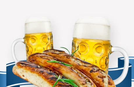 Oktoberfest beers and brats