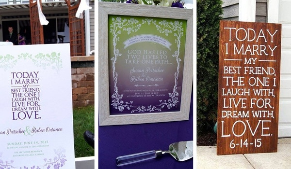 personalized wedding signage