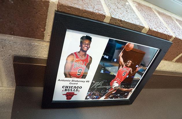 Signed photo of Antonio Blakeney, guard for the Chicago Bulls