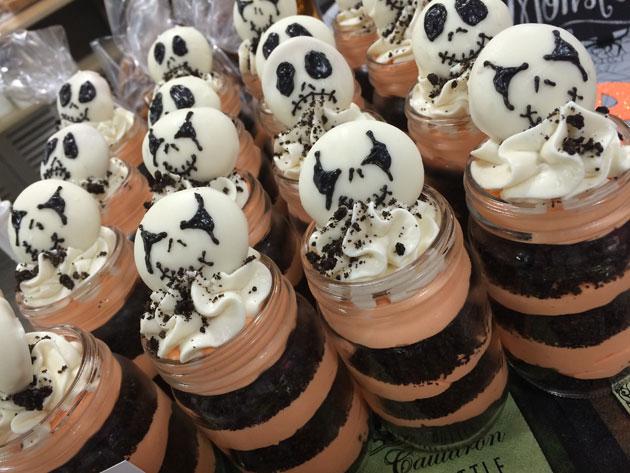 Nightmare before Christmas themed dessert jars