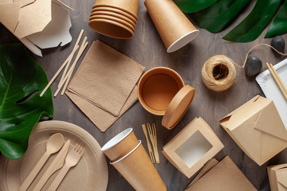 eco friendly tableware on a table