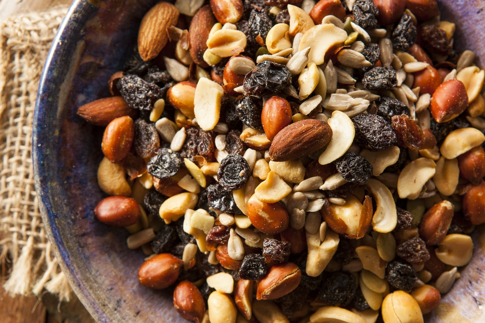 Trail Mix, perfect for a meeting snack, in a bowl