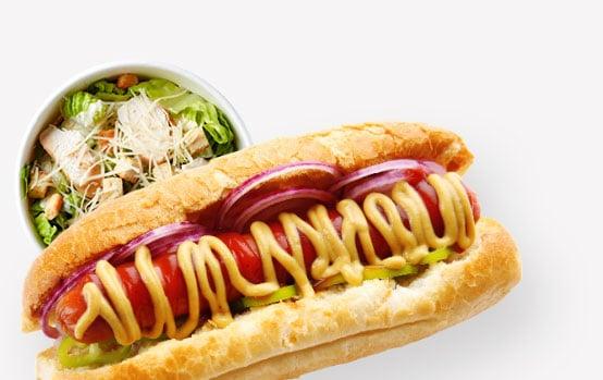 Tasty Catering Picnics Hotdog with Mustard