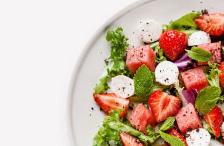 Tasty Catering strawberry salad plate