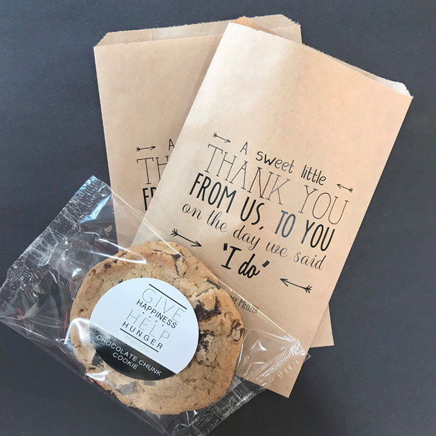 That's Caring Cookie Wedding Favors