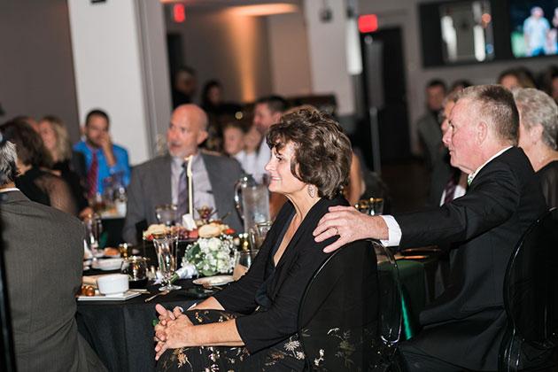 Bride's Parents During Speeches at Loft 21 Wedding