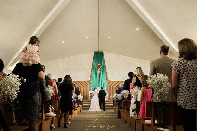 Wedding Ceremony at Queen of the Rosary in Elk Grove Village