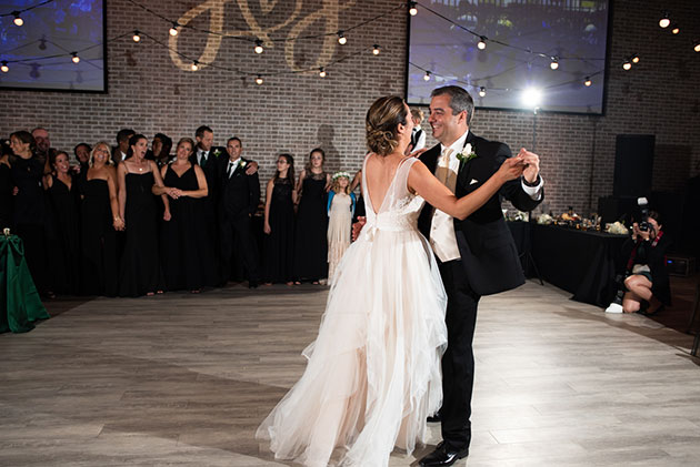 Bride and Groom's First Dance at Loft 21